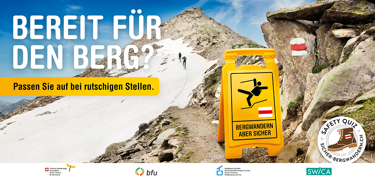 bfu Kampagne Sichern Bergwandern