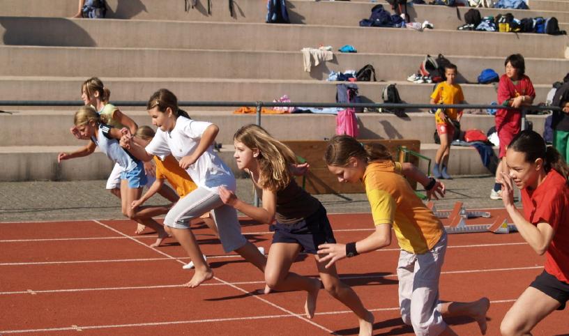 Start zum Sprint beim Thurgauer Schulsporttag