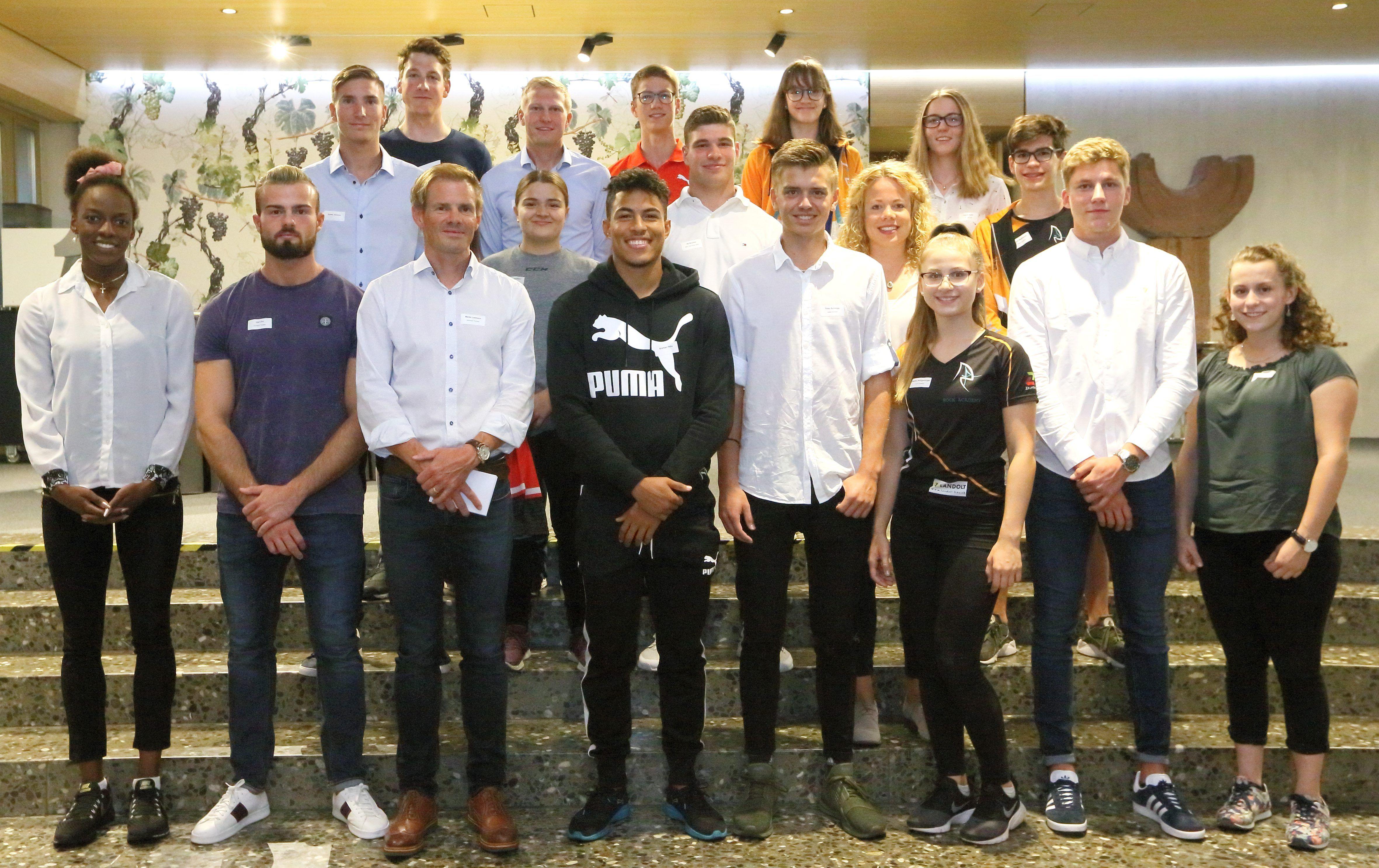 Geehrte Thurgauer Sportlerinnen und Sportler